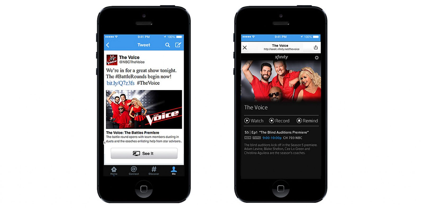 PHOTO: Twitter and Comcast have teamed up to let you change a channel with a tweet.