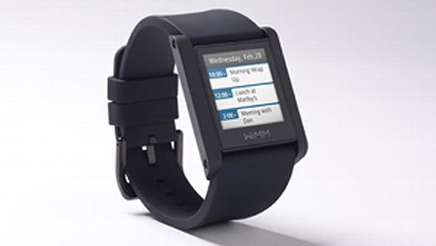 PHOTO: WIMM's One Smartwatch displays your text messages and incoming calls on your wrist.
