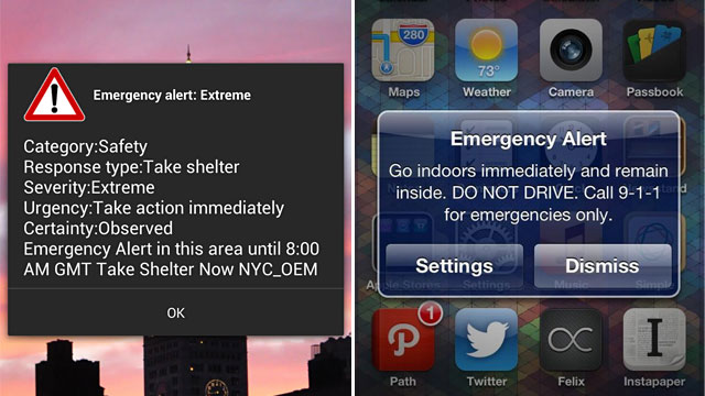 PHOTO: Wireless Emergency Alerts