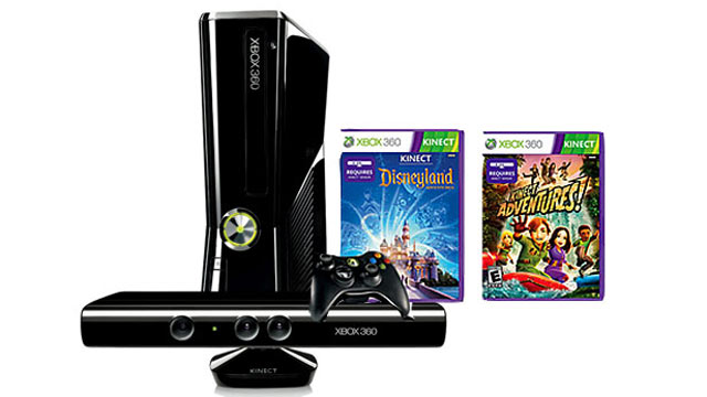 PHOTO: The XBox 360 bundle comes with Kinect and two games.