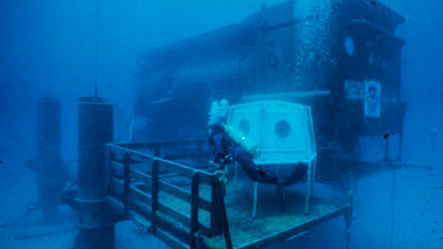 PHOTO: The Aquarius Lab is owned by NOAA and operated by the University of North Carolina - Wilmington. The Lab is located off the coast of Key Largo, Florida.