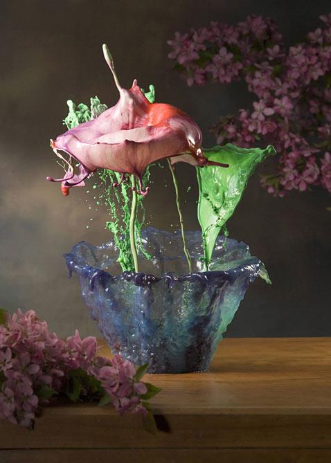 sn flower paint 5 ll 120530 vblog Liquid Flowers: Jack Longs Splash Photography