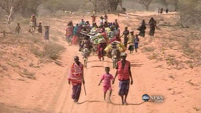 VIDEO: Drought, famine and violence force families to escape to Kenya.