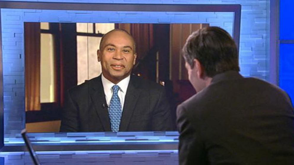 VIDEO: ABC News Dan Harris and Mass. Gov. Deval Patrick on the one-year anniversary of the Boston Marathon bombings.