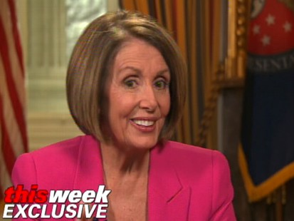 Video of Nancy Pelosi on This Week with Elizabeth Vargas.