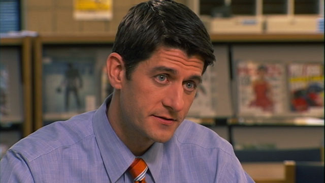 "PHOTO: Rep. Paul Ryan, R-Wis., discusses his budget plan with Christiane Amanpour on ""This Week."""