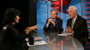 """On """"This Week,"""" Senators Robert Menendez and John Cornyn predict the outcome of the midterm elections."""