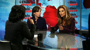 "Maria Shriver and Ann OLeary discuss women and Alzheimers disease on ABCs ""This Week."""