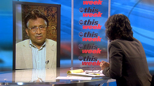 "PHOTO Former Pakistani President Perez Musharraf appears on ""This Week with Christiane Amanpour."""