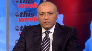 "PHOTO Egypts Ambassador to the United States, Sameh Shoukry, appears on ""This Week with Christiane Amanpour"""