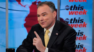 """DNC Chairman Tim Kaine appears on """"This Week with Christiane Amanpour."""""""