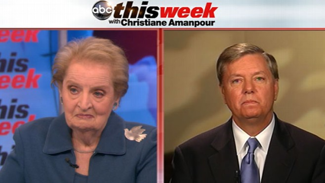 VIDEO: Madeleine Albright and Sen. Lindsey Graham Talk With Christiane Amanpour
