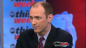 "PHOTO White House Advisor Austan Goolsbee appears on ABC News ""This Week with Christiane Amanpour"" Sunday, January 2, 2011."