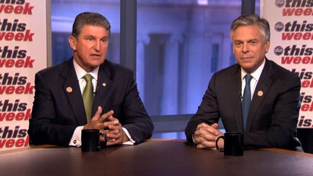 "VIDEO: Honorary chairs of No Labels Sen. Joe Manchin and Jon Huntsman on ""This Week."""