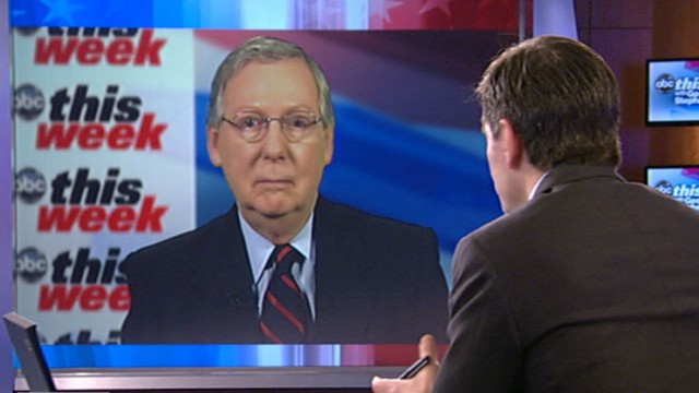 VIDEO: The Senate minority leader says spending is now the major issue.