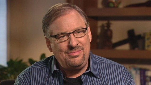 VIDEO: Pastor Rick Warren: God hates war, loves soldiers.