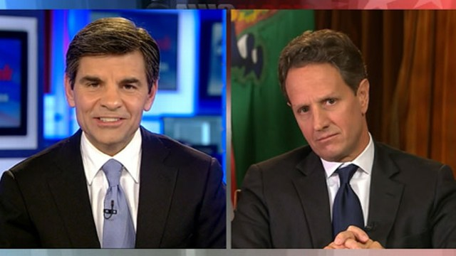 VIDEO: Treasury Secretary Timothy Geithner on the fiscal cliff stalemate.