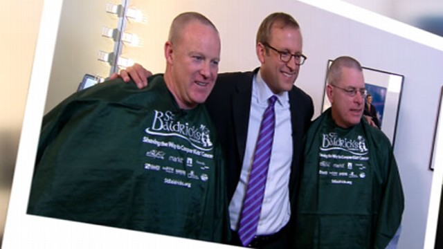 VIDEO: DNC and RNC spokespersons Brad Woodhouse and Sean Spicer shave their heads for charity.
