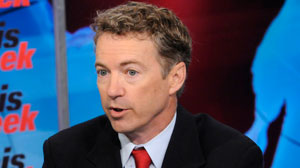"PHOTO: Senator-elect Rand Paul speaks to Christiane Amanpour on ""This Week."""