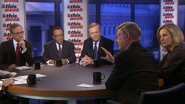 VIDEO: George Will, Dee Dee Myers, Lou Dobbs, Clarence Page, and Jon Karl.