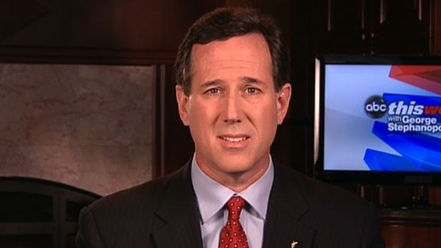 VIDEO: The GOP presidential candidate challenges Mitt Romney for the nomination.