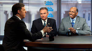 Jake Tapper interviews DNC Chairman Tim Kaine and RNC Chairman Michael Steele on ABCs This Week