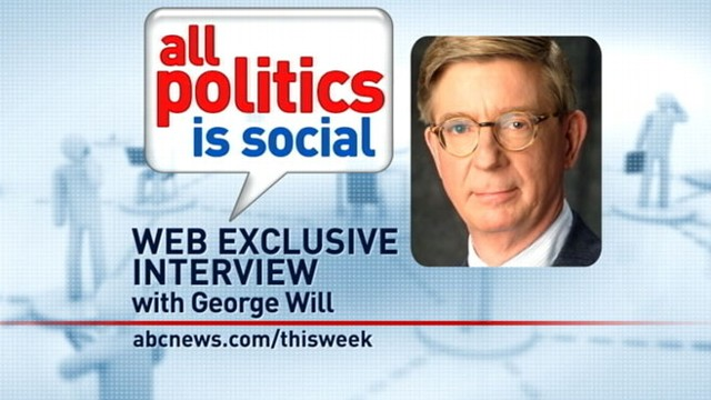 VIDEO: ABC News George Will answers viewer questions from Facebook.