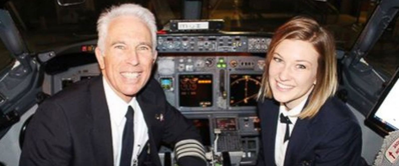 """PHOTO: Jen Byrne said flying with her dad is """"what Ive wanted since I was 8 years old."""""""