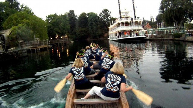 VIDEO: Disneyland Canoe Race
