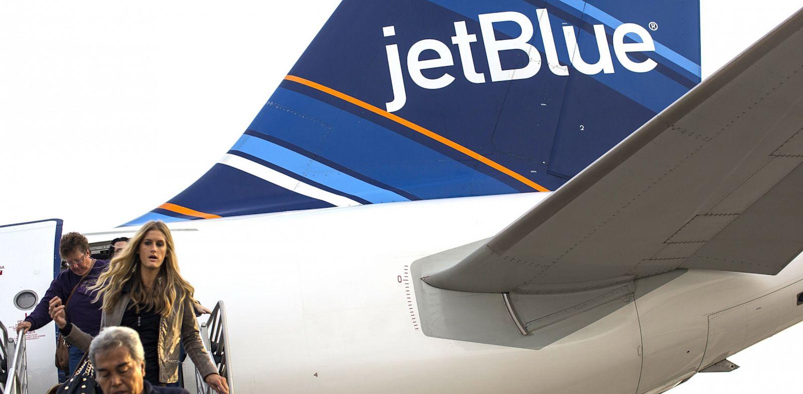 PHOTO: Passengers on a Jet Blue Airways flight