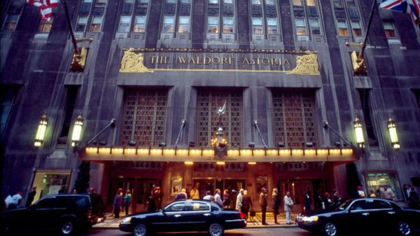 PHOTO: The exterior of The Waldorf Astoria Hotel, pictured September 25, 2000 in New York.