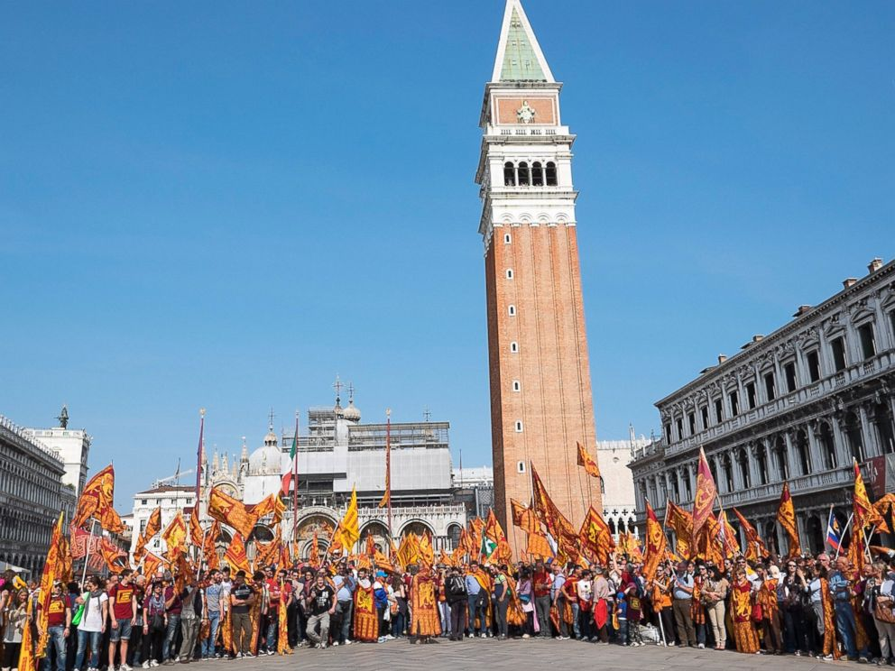 PHOTO: Saint Marks Square is pictured on April 25, 2014 in Venice, Italy.