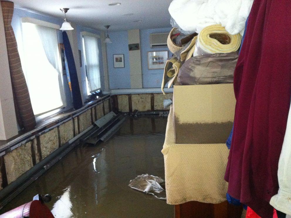 PHOTO: The inn had five feet of water on the ground floor.