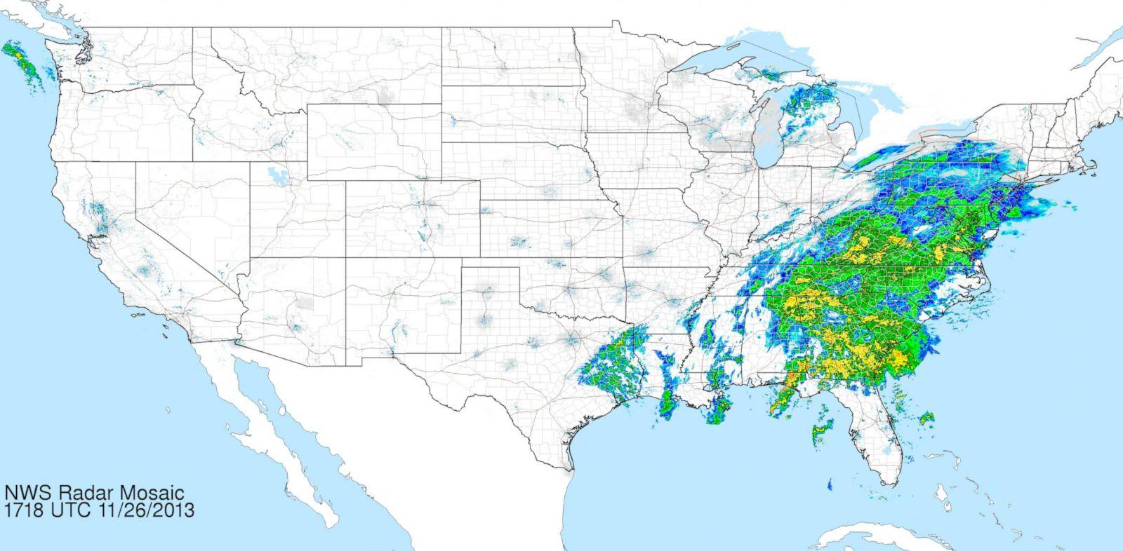 PHOTO: National Weather Service Radar Map