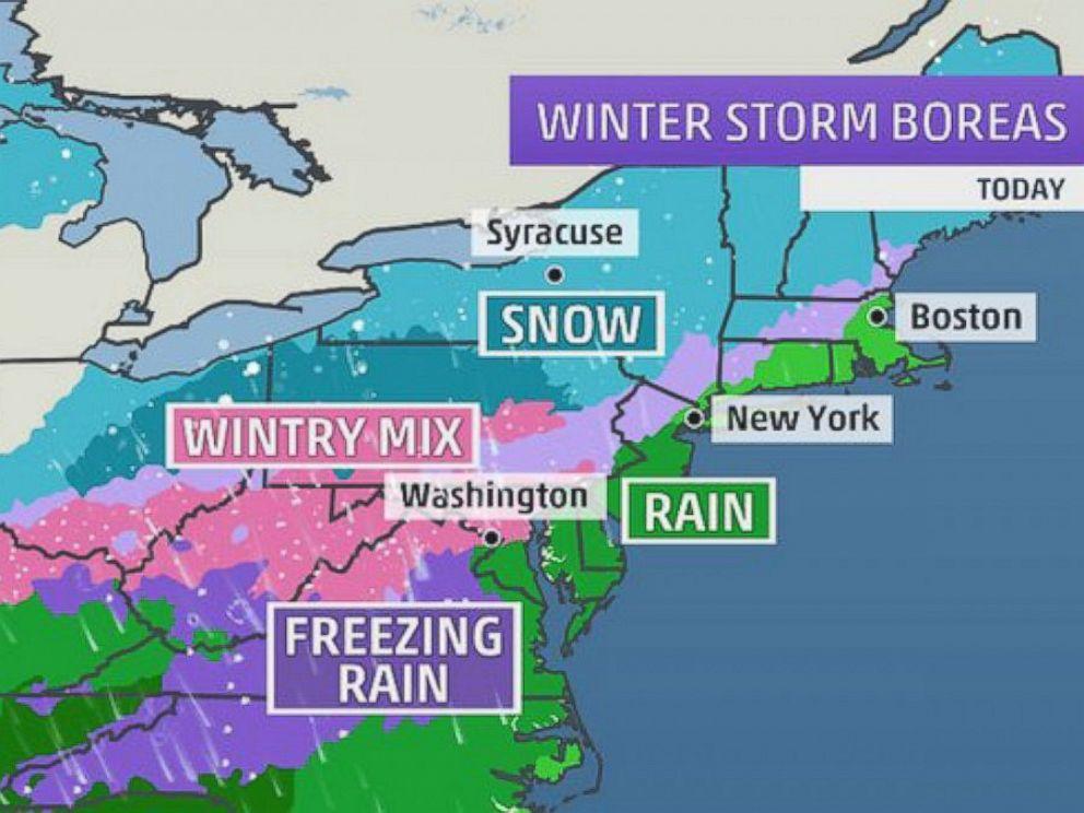 PHOTO: Tuesdays Forecast shown on Weather.com