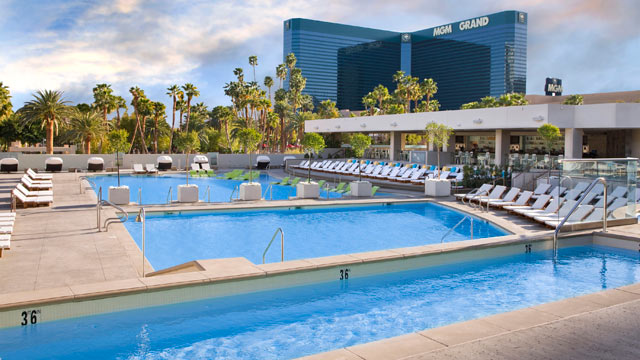 PHOTO: The MGM Grand Wet and Republic Pool and Lounge is seen here.