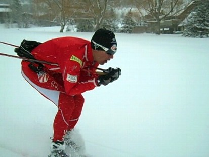 Video: Olympic Nordic team member preps for the upcoming winter games.
