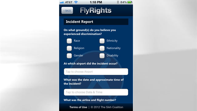 PHOTO: A new app claims to enable travelers to report profiling by the TSA in real time.