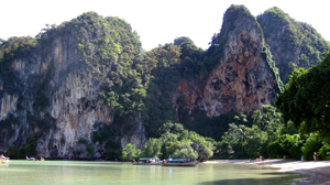 PHOTO Railay Beach, on the southern coast of Thailand along the Andaman Sea, is one of the top rock climbing destinations in the world.
