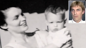 PHOTO Ty Hansen, shown here with his mother Joan Hansen as a baby, before she disappeared in 1962, now as an adult, says he believes that his mom was murdered by his father.
