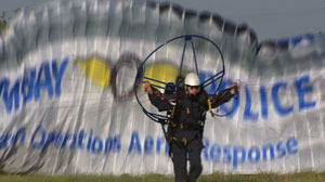 The Palm Bay, Fla., Police Department has become the first in the nation to put its officers in powered paragliders.