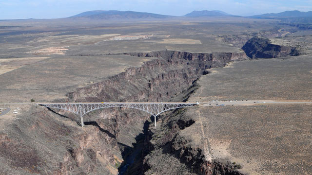 PHOTO: The Rio Grande Gorge Bridge within the proposed El Rio Grande Del Norte National Conservation Area near Taos, N.M.
