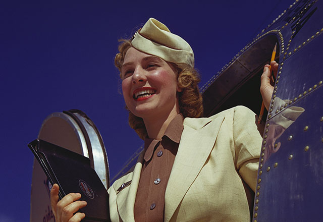gty 1940 flight attendants lpl 130807 wblog 13 Fantastic Flashback Flight Attendant Fashions