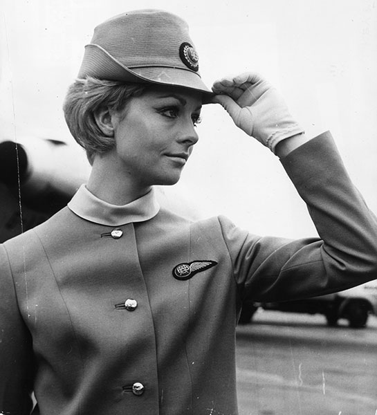 gty 1967 british united flight attendants lpl 130807 wblog 13 Fantastic Flashback Flight Attendant Fashions