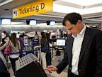 PHOTO: Traveler used self-service check in kiosk