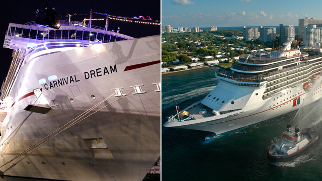 PHOTO: The Carnival Cruise Lines ship Dream and Legend both have had experienced technical problems, forcing the ships to cut short passengers vacation.
