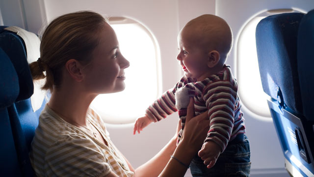 "PHOTO: Some advocate child-free zones or ""cry-room"" areas like on airplanes, and at least one airline has declared a class war on babies."