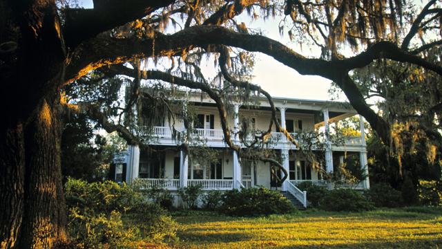PHOTO: Spanish Moss and Beaufort home in Beaufort, S.C.