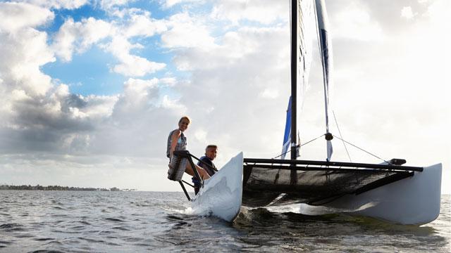 PHOTO: Catamaran sailing has become an extreme sailing sport.