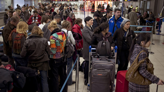 PHOTO: Travelers stranded by weather-related flight cancellations have options.